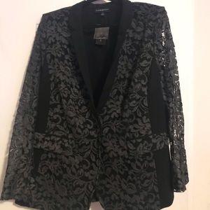 NWT Lane Bryant lace sleeved blazer